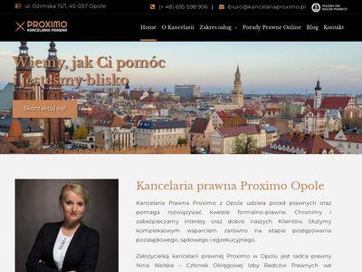 Kancelariaproximo.pl radca prawny z Opola