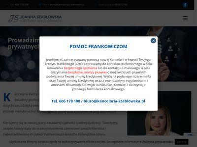 Kancelaria-szablowska.pl - prawnik