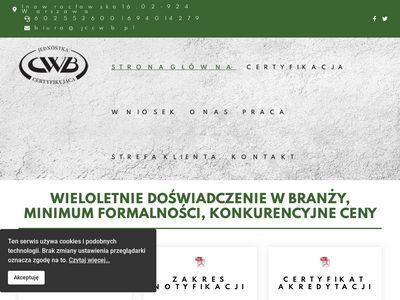 Jccwb.pl jednostka certyfikująca cwb