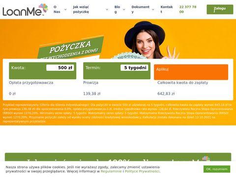 Loanme.pl - szybka pożyczka