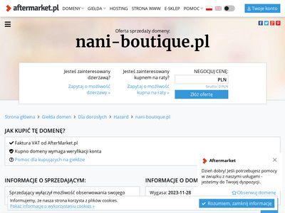 Nani-boutique.pl sklep z odzieżą dla kobiet