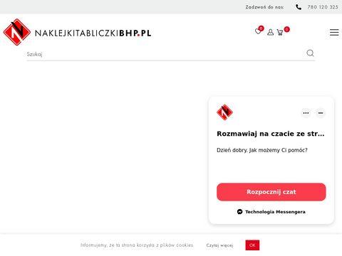 Naklejkitabliczkibhp.pl sklep BHP online