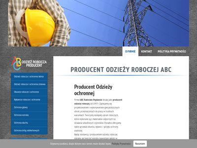 Abcrobocze.pl - producent odzieży BHP