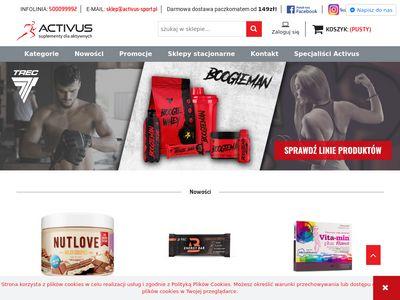 Activus-sport.pl odżywki dla sportowców