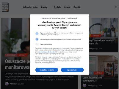 Chwilrank.pl kalkulatory finansowe