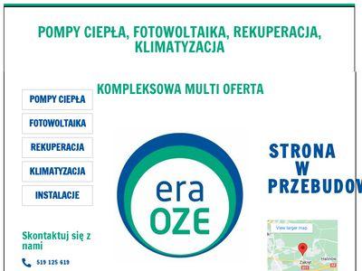 Eraoze.pl pompy ciepła, instalacje