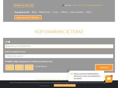 Gwarancje24.pl wadium