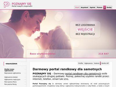 Poznajmysie.pl - darmowy portal randkowy