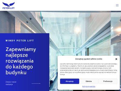 Peterlift.pl windy zewnętrzne, towarowe