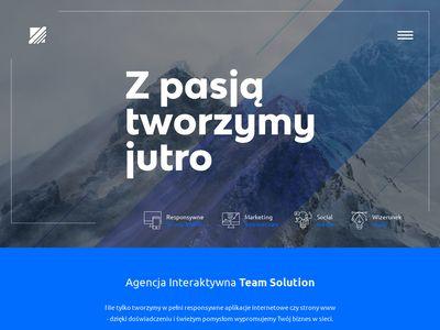 Teamsolution.pl projektowanie stron Kraków
