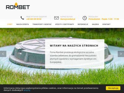 Rombet.pl - szambo betonowe