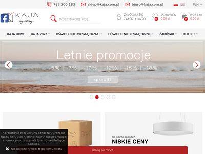 Sklep.kaja.com.pl - oświetleniowy