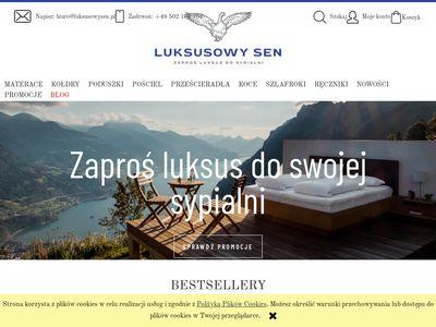 Luksusowysen.pl sklep z pościelą Gdańsk