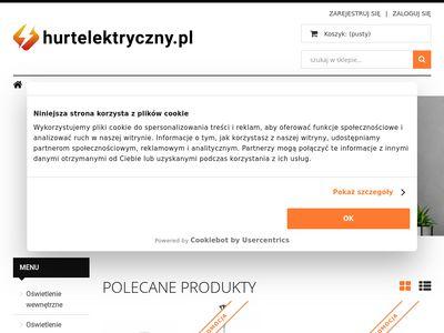 Hurtelektryczny.pl artykuły oświetleniowe