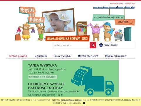 Wszystkodlamaluszka.com.pl tanie ubranka