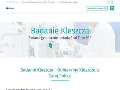 Zbadajkleszcza.pl innowacyjna diagnostyka