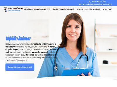 Wlewy-witaminowe.pl pogotowie kacowe Gdańsk