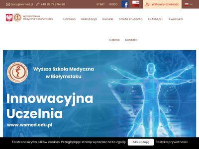 Wsmed.edu.pl uczelnia medyczna