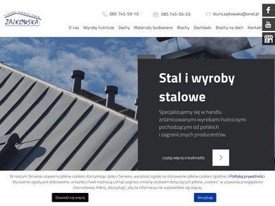 Zajkowska - pokrycia dachowe, rury