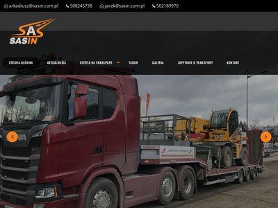 Sasin - transport maszyn rolniczych
