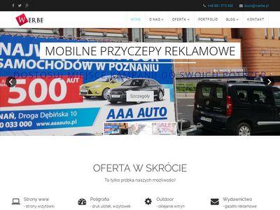 Werbe - oklejanie witryn i okien Poznań