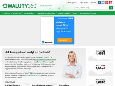 Waluty360.pl - kantory internetowe