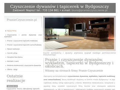 Pranie dywanów, wykładzin - Bydgoszcz