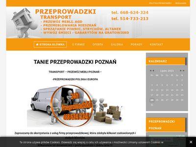 Przeprowadzki Poznań. Tani transport