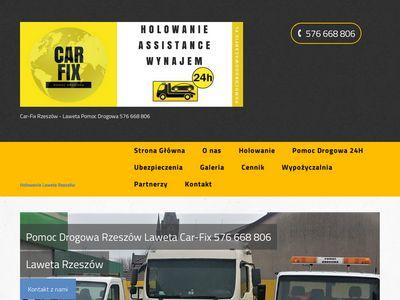 Car FIx pomoc drogowa Rzeszów