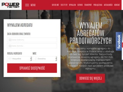 Power-factory.pl wynajem agregatów