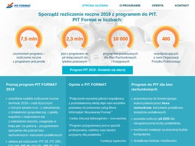 Pit-biuro.pl program 2019