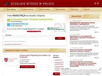 Polska baza uczelni StudiaWyzsze.pl