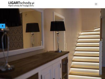 Ligart - schody z drewna