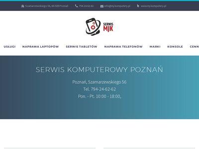MJ Komputery naprawa laptopów Poznań