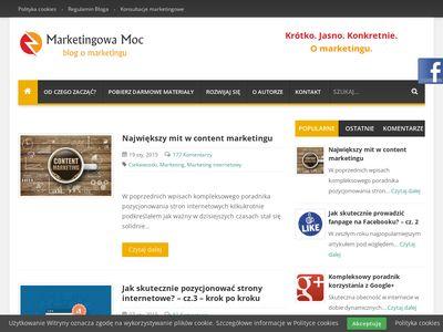 Maarketingowa-moc.pl - blog o marketingu