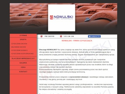 Nowulski - Czyszczenie dachów, elewacji