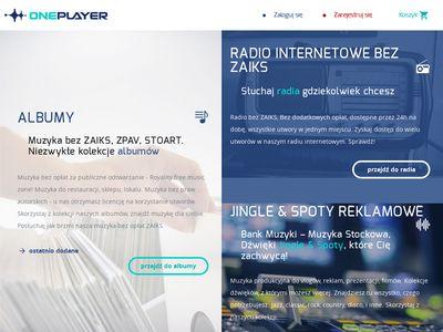 Oneplayer.pl muzyka bez zaiks