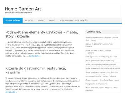 Homegardenart.pl meble gastronomiczne