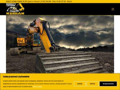 Kubiak-koparki.pl - roboty ziemne