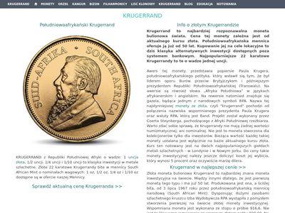 Złota moneta Krugerrand cena