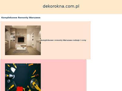 Dekorokna.pl - rolety rzymskie Warszawa