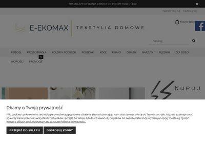 E-ekomax.pl - hurtownia pościeli