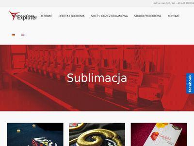 Exploter.com.pl odzież reklamowa Łódź