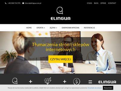 Elingua.com.pl biuro tłumaczeń Katowice