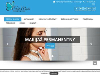 Efekt Motyla manicure hybrydowy Kraków