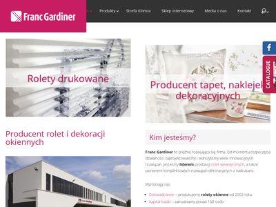 Dekoracje okienne oferuje Franc Gardiner
