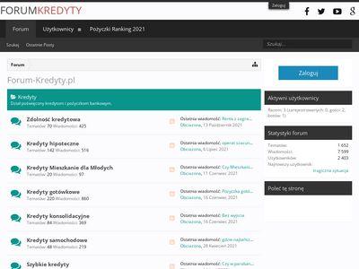 Kredyty - forum dyskusyjne