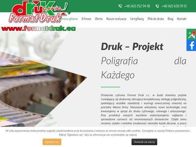 Format Druk wielkoformatowy Łódź