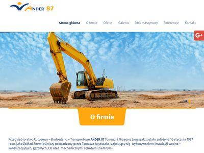 Ander 87 budowa przepompowni Poznań