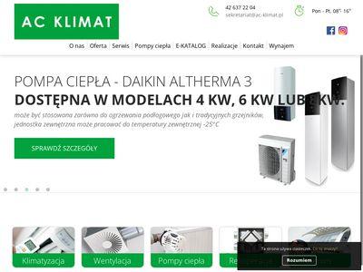 AC Klimat instalacja wentylacji Łódź